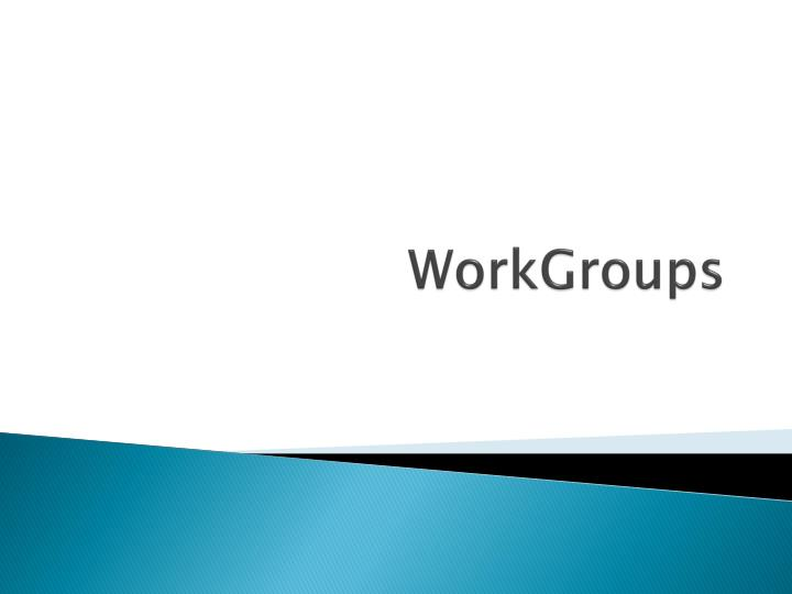 workgroups n.