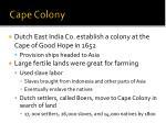 cape colony
