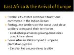east africa the arrival of europe