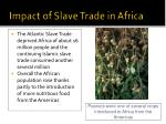 impact of slave trade in africa1