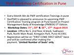 pmp workshop certification in pune