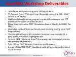 starpmo workshop deliverables