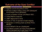 outcome of the suez conflict