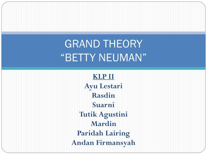 grand theory betty neuman n.