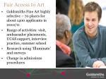 fair access to art