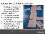 information advice guidance