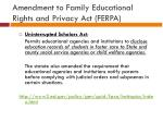amendment to family educational rights and privacy act ferpa