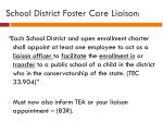 school district foster care liaison