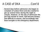 a case of dka cont d