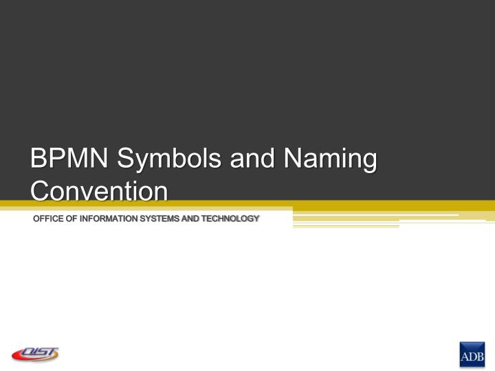 bpmn symbols and naming convention n.
