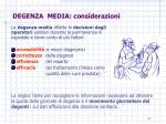 degenza media considerazioni