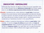 indicatori ospedalieri
