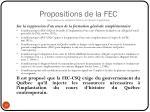 propositions de la fec sous r serve de validation finale et de r vision linguistique
