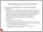 propositions de la fec suite sous r serve de validation finale et de r vision linguistique