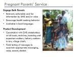 pregnant parents service