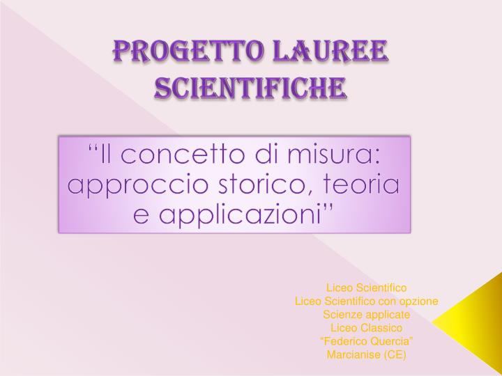 progetto lauree scientifiche n.