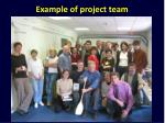 example of project team