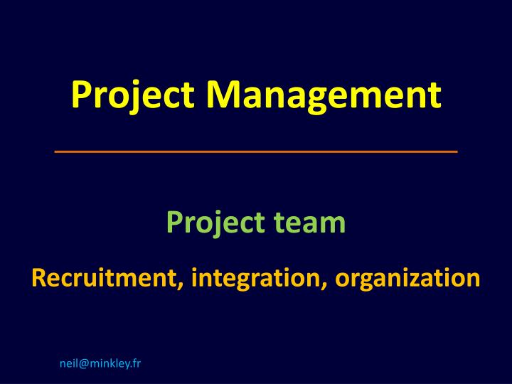 project management n.