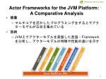 actor frameworks for the jvm platform a comparative analysis