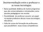desintermedia o entre o professor e as novas tecnologias