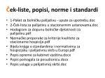ek liste popisi norme i standardi