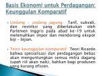 basis ekonomi untuk perdagangan keunggulan komparatif