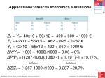 applicazione crescita economica e inflazione