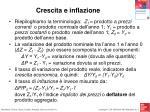 crescita e inflazione