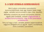 5 a nem verb lis kommunik ci
