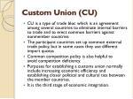 custom union cu