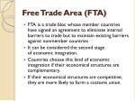 free trade area fta