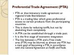 preferential trade agreement pta