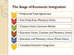 the stage of economic integration