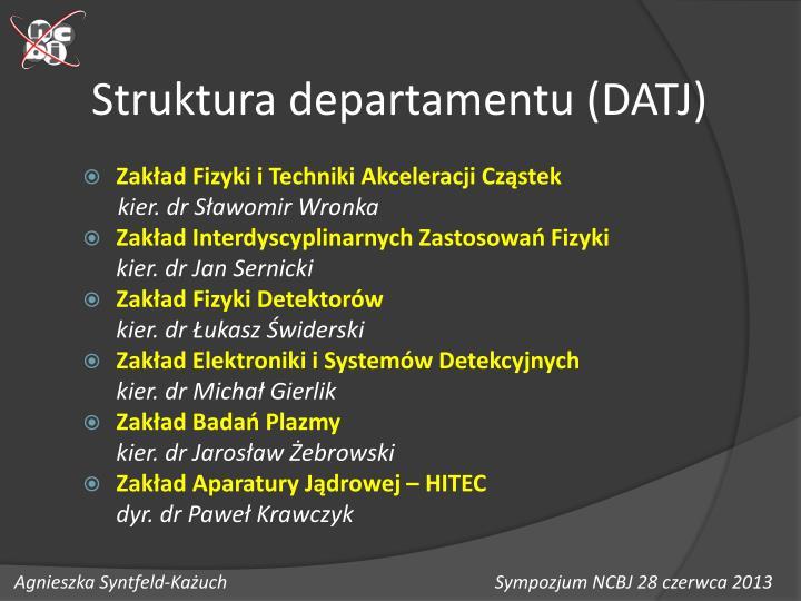 Struktura departamentu datj