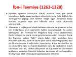 bn i teymiye 1263 13281
