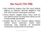 ebu yusuf 731 798