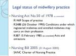 legal status of midwifery practice