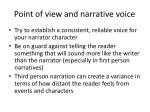 point of view and narrative voice
