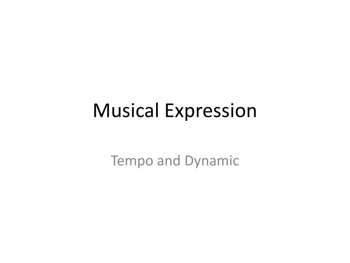 musical expression n.