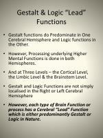gestalt logic lead functions
