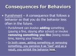 consequences for behaviors1