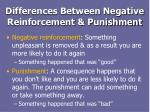 differences between negative reinforcement punishment