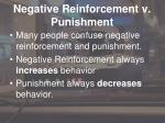 negative reinforcement v punishment