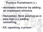 positive punishment