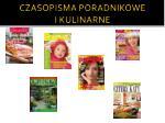 czasopisma poradnikowe i kulinarne