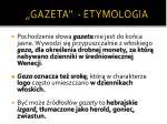 gazeta etymologia