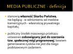 media publiczne definicja