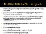media publiczne misja cd