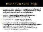 media publiczne misja
