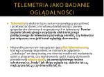 telemetria jako badanie ogl dalno ci